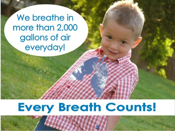 """we breathe in more than 2000 gallons of air everyday"""